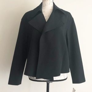 Anne Klein Black Open Front Blazer Jacket Sz 12